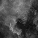 NGC7000 - North America Nebula (2 panels)  in Ha (Pelican too),                                Richard Bratt