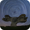 Star trails around the Monument to the Revolution of the People of Moslavina (north side this time),                                Ivan Bosnar