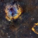 IC 1396 - Sh2-129 narrowband,                                remidone
