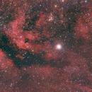 Sadr + IC1318 + NGC6910,                                John R Carter, Sr.