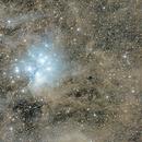Pleiades and galactic cirrus clouds,                                Giuseppe Donatiello