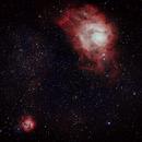 M8 and M20 Lagoon and Trifid Nebulas,                                starbuck