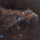 Widefield on Corona Australis constellation,                                remidone