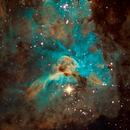Carina Nebula (keyhole) in Hubble Palette,                                Marcelo Domingues