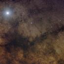 Jupiter over the Pipe Nebula,                                bbright