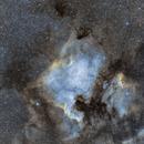 North American Nebula - SHO (Simulated),                                Jared Holloway