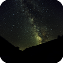 Southern view of the Milky Way on the Kern River,                                banzai