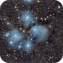 Pleiades / M45 Firstlight with new ZWO ASI294MC Pro , and Asiair, C11 Hyperstar,                                morrienz
