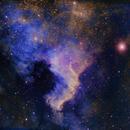 NGC 7000 in the Hubble pallatte,                                Mostafa Metwally