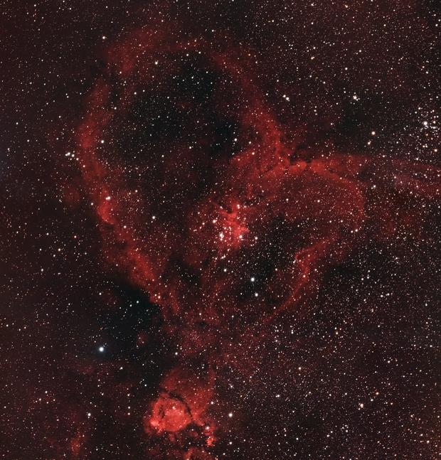 Heart Nebula (HaRGB with DSLR),                                drivingcat