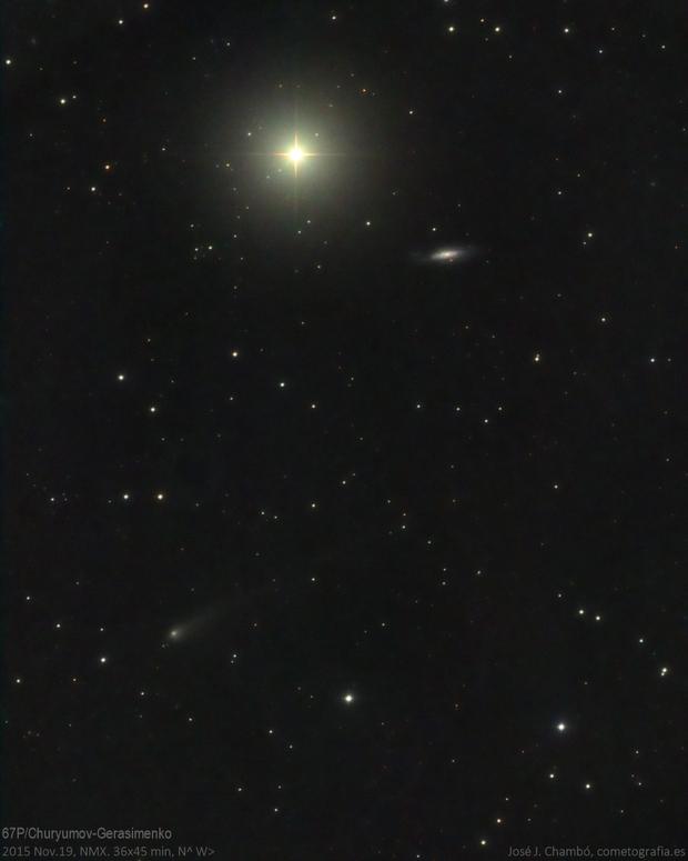 Comet 67P/Churyumov-Gerasimenko (Nov.19,2015),                                José J. Chambó