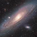 Andomeda's Messier 31 - HaLRGB mosaic,                                Arnaud Peel