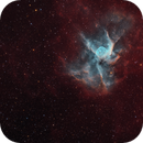 Helmet on the Red Curtain - NGC 2359 - Thor's Helmet,                                Min Xie