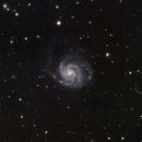 M101 The Pinwheel Galaxy in LRGB,                                Eshan Toorabally