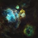 NGC2035 Dragon's Head Nebula in HST palette,                                John Ebersole