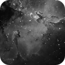 Eagle Nebula (M16) monochrome Ha,                                Stuart Goodwin