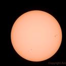 Sole 06/03/2011 h13utc - NOAA 1166 - 1164,                                Andrea Storani