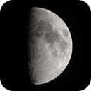 Seven-Day-Old (First Quarter) Moon, June 28, 2020 (w/ Pixel Shift Resolution),                                AlenK