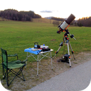 My gear set up for imaging on Nov 11, 2015 on Ebenwaldhöhe, Austria (about 1100 m altitude),                                cray2mpx