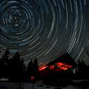Star trails,                                Yves-Andre Fasel et Marc Dumas