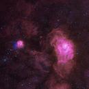 Lagoon and Trifid Nebulas,                                Bradley