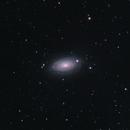 M63 - Sunflower Galaxy,                                starfield