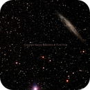 NGC 4945 (right) & NGC 4976 (left) Spiral and eliptical galaxies in Centaurus,                                Marcos Mataratzis
