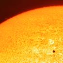 The Sun with Spot - First Light Daystar Quark Chromosphere,                                Astrozeugs