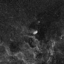 Tulip Nebula in Halpha, wide field,                                Luigi Fontana