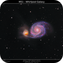 M51 - The Whirlpool Galaxy,                                Brice Blanc