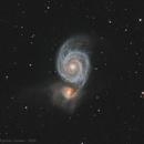 "M51 ""Whirlpool Galaxy"" wide field - Final mix C8 & TSA102,                                Jean-Baptiste Auroux"
