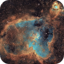 IC 1805 Heart nebula in SHO,                                Piet Vanneste