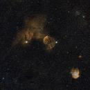 M 35, IC 443 (Sh2-248), NGC 2174 @ Bicolor,                                Wolfgang Zimmermann