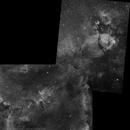 IC 1805 NGC 896 mosaico Ha,                                FrancescoTallarico
