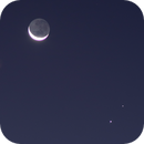 Jupiter, Saturn and the Moon December 17 2020 crop,                                Kevin Parker