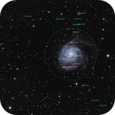 M101 Wide Field Annotated,                                Yu-Hang Kuo