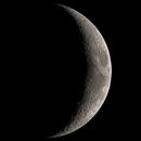 Moon waxing crescent,                                Bert Scheuneman