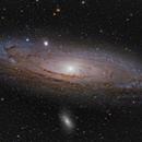 M31, a color image,                                  Niels V. Christensen