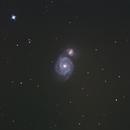 M51 Whirlpool Galaxie - Etwas anders bearbeitet,                                Christian van Endern