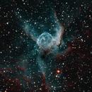 Thor's Helmet (NGC2359) in HOO +RGB,                                Stuart Goodwin