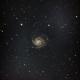 Pinwheel Galaxy and its satellites,                                otoskope