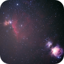 Orion Region (M42, M43, M78, NGC1977, IC434, NGC2024) -- Nikon D5300 & 200 mm Telephoto lens,                                Nick Large