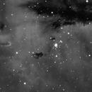 Animation NGC281 (Pacman nebula) avec différents filtres LSHO,                    Denis Bergeron