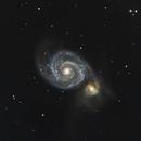 M51 - The Whirlpool Galaxy,                                Chris Schaad