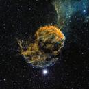 Jellyfish Nebula (IC 443) - SHO (18hrs),                                dswtan