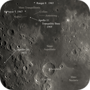 Moon Apollo 11 and 16 landing sites,                                Jeff Padell