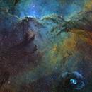 NGC6188 – Fighting Dragons of Ara and the Cosmic egg in SHO-RVB, 2 panels mosaïc,                                Magellan_Team