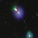 Polaris the Space Centipede (Star Trails through gaps in the Clouds),                                Jonathan W MacCollum