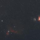 Orion's Belt thru' M42 - 18 Jan 2015,                                Geof Lewis