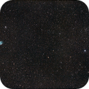 M27 Dumbell Nebula with Open Cluster NGC 6830,                                Michael